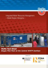 MoMo Fact Sheet - Biogas Pilot Plant at the Central WWTP Darkhan